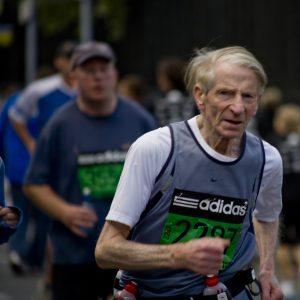 Senior marathoner