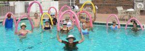 seniors doing water arobics