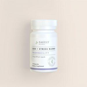 sagely cbd stress blend capsules